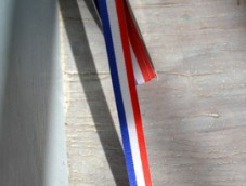 Tri-color ribbon (blue white and red) 66mm 15mm XL XS fabric MIF