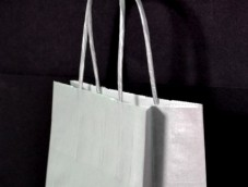 Silver or Gold paper carrier bags XS