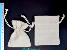Natural cotton little pouch bag XS