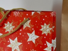 White & Red Xmas Boutique Paper Bags