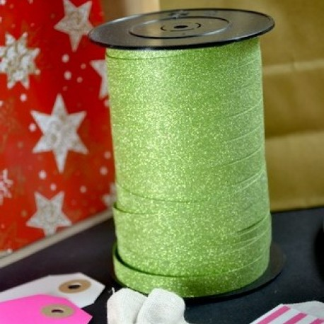 Ribbon glittering chocolate black pink green champagne gold or silver 10mm counter rolls MIF