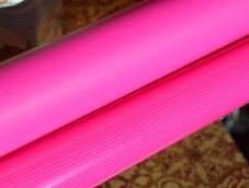 Luxury matt ultra shiny bright pink wrapping paper counter roll 70cm