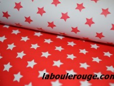 Red stars on white paper