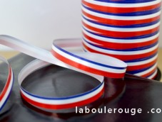 Ruban Bolduc tri-color (bleu, blanc & rouge)