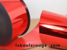 Mirror finish decorative ribbon MIF red gold green blue 70mm XXL
