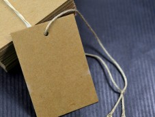 Kraft tags with cotton thread 39*55mm Made in France MIF Exclusive