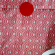 Polka dots XL size pink red and grey bags