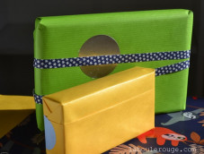 Blue kraft gift-wrapping paper
