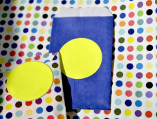 ROUND NEON YELLOW STICKY SEALS MADE IN FRANCE 35MM 50MM Middle and XL Size