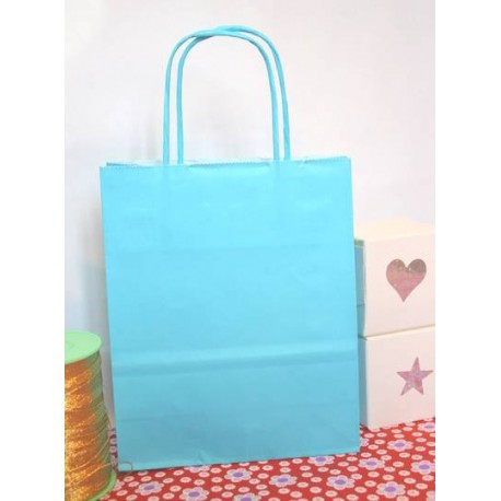 Mini size paper bags 18cm with twisted handles red green orange black pink blue MIF