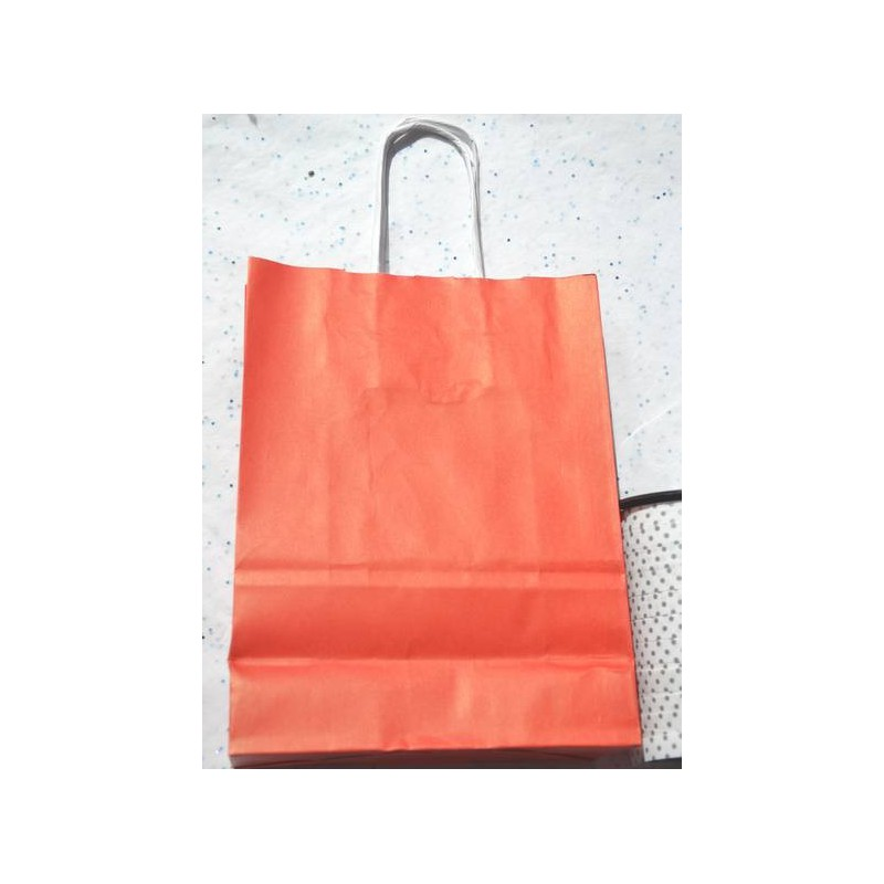 Mini Size Coloured Kraft Paper Bags Red Orange Green Blue
