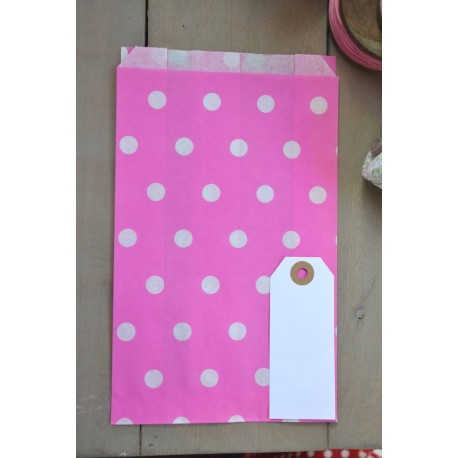 Polka dots XXL on grey and pink paper bags