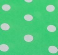 Vert d'eau à pois blancs