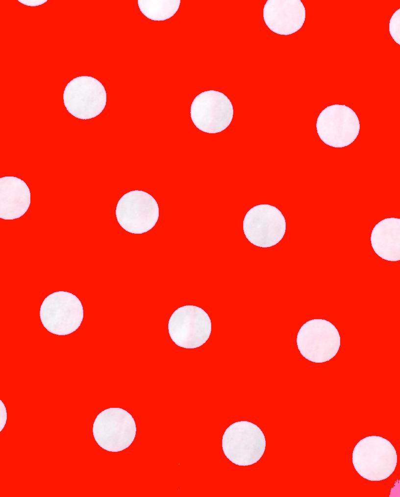 Rouge à pois blancs (pochettes)